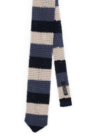 AN IVY Slips Colorblock Silk Knit Tie