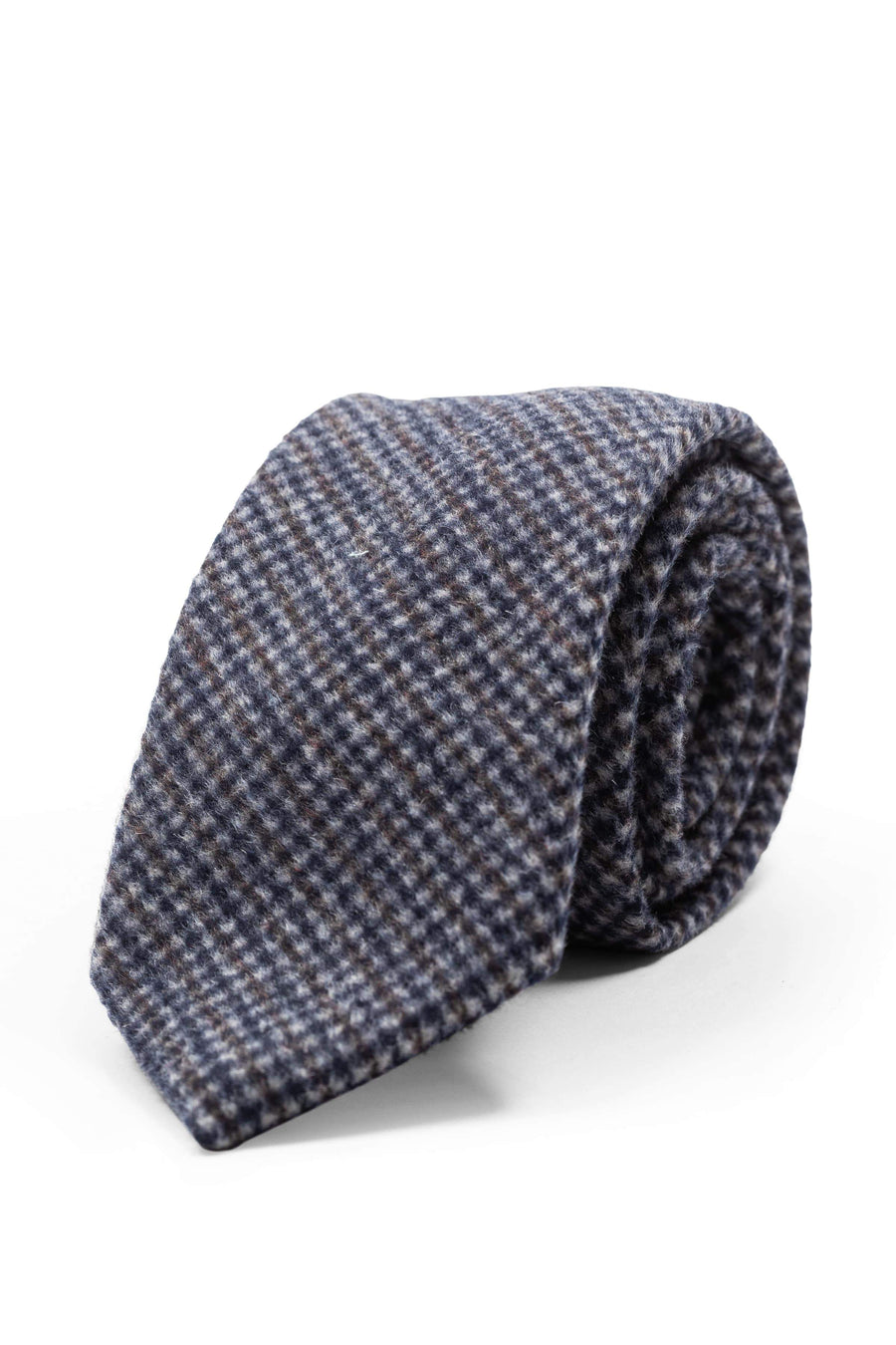 An ivy Slips Grey Patterned Wool Tie