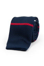 An ivy Slips Navy Red White Classic Knit
