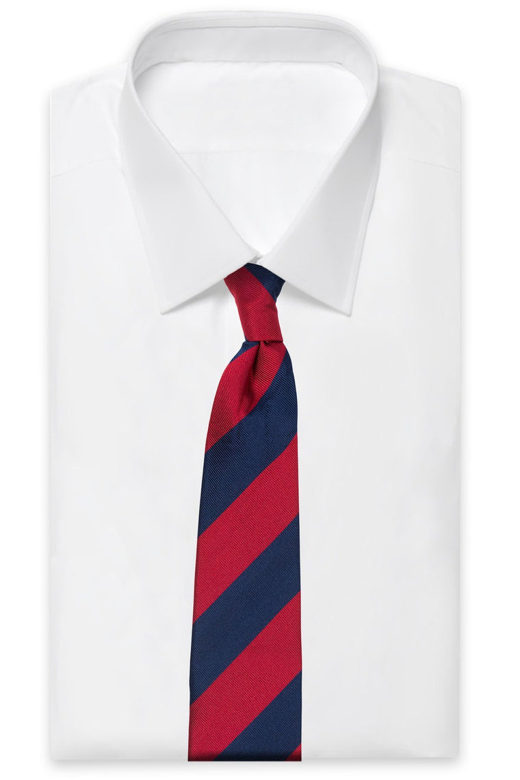 An ivy Slips Red/Navy School Silk Tie