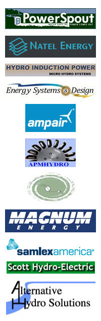 We stock only the highest quality micro-hydro equipment from these fine manufacturers
