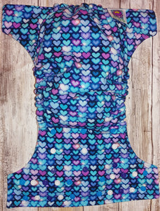 Electric Blue Hearts Pocket