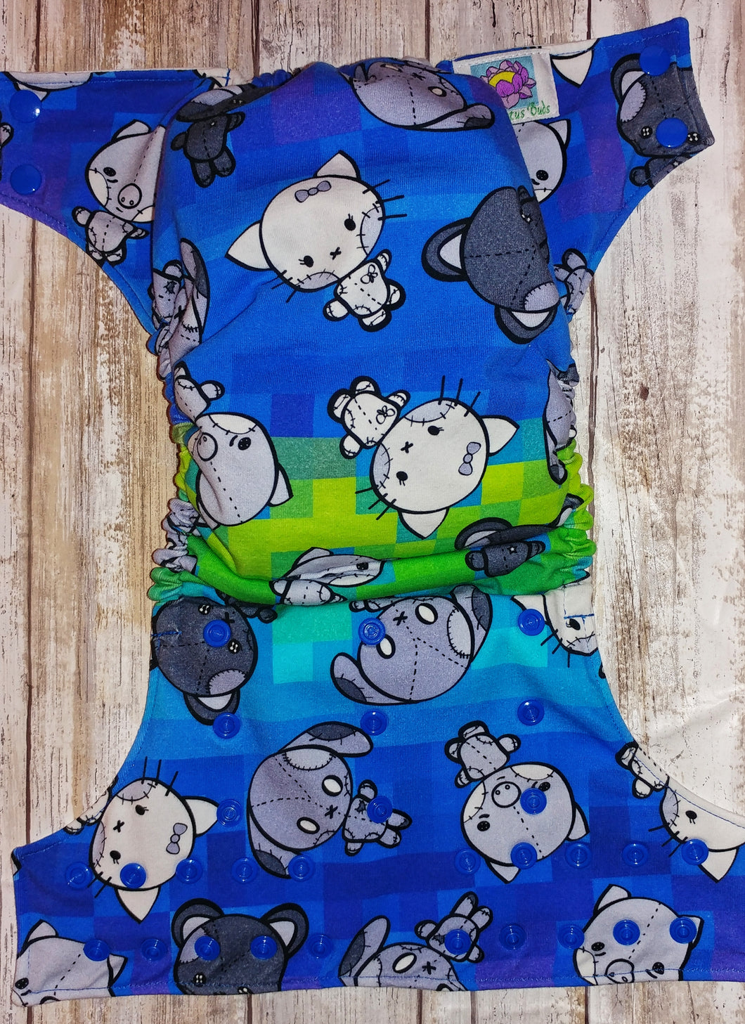 Electric Blue Green Stitchkins Cover