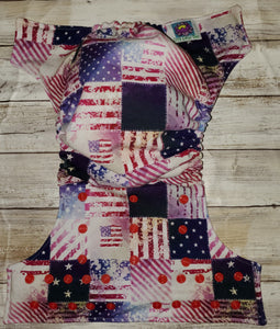 Vintage American Flag Wipeable Cover