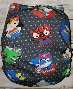 Super Hero Kitty OS Wipeable Cover