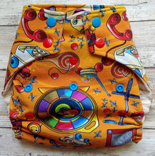 Load image into Gallery viewer, Orange Vintage Toys OS Pocket Diaper