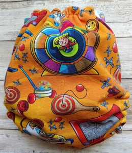 Orange Vintage Toys OS Pocket Diaper