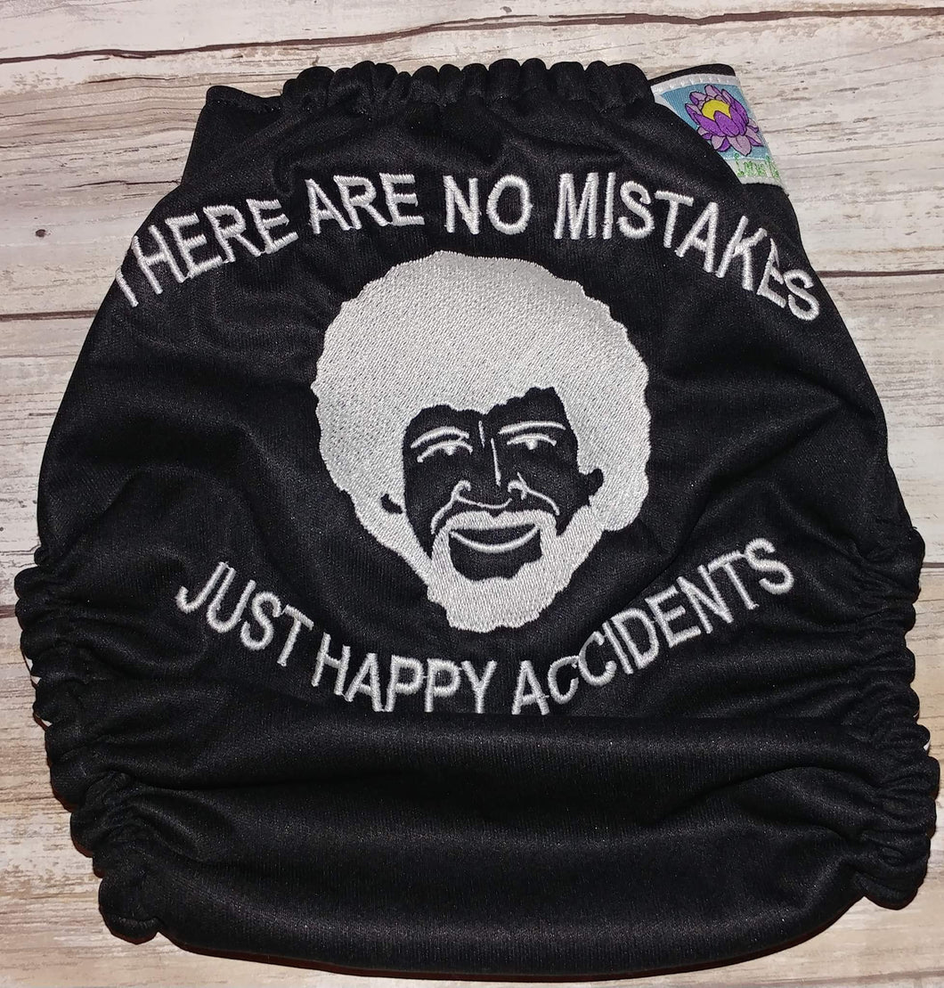 There Are No Mistakes Just Happy Accidents Embroidered Cover