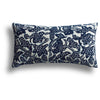 Vintage Indigo Dotty Pillow, 12 x 20 in