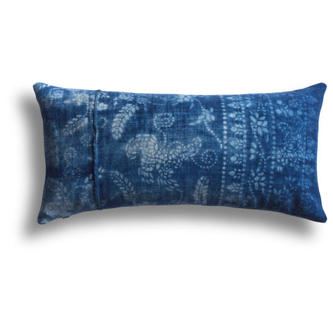 Vintage Indigo Tang Pillow, 11 x 22 in