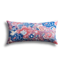 Load image into Gallery viewer, Summer Palace Pillow in Coral, 12 x 20 in