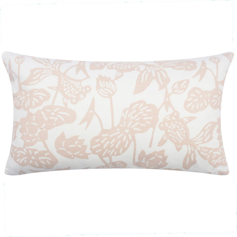 Peony Fish Bowl Pillow, 12 x 20 in