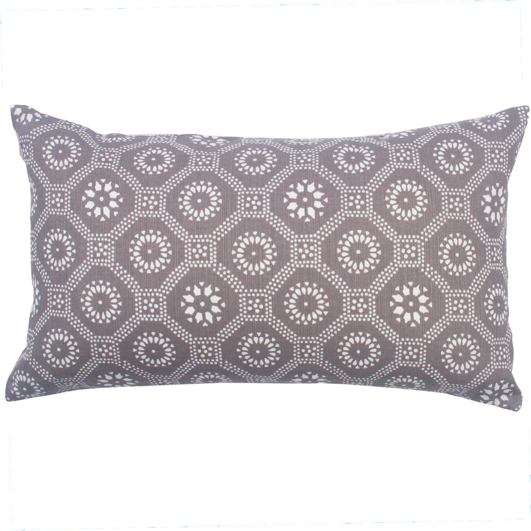 Taro Honeycomb Pillow, 12 x 20 in