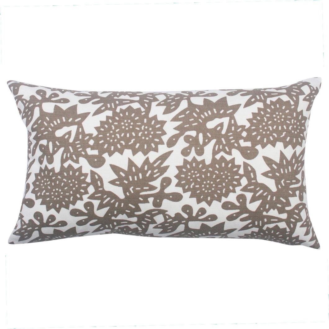 Shiitake Flower Pillow, 12 x 20 in