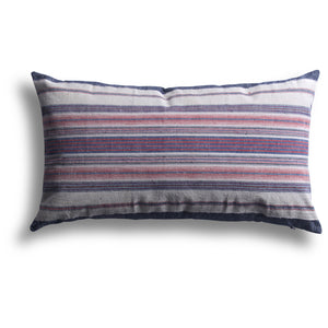 Vintage Homespun Shanghai Pillow, 12 x 20 in
