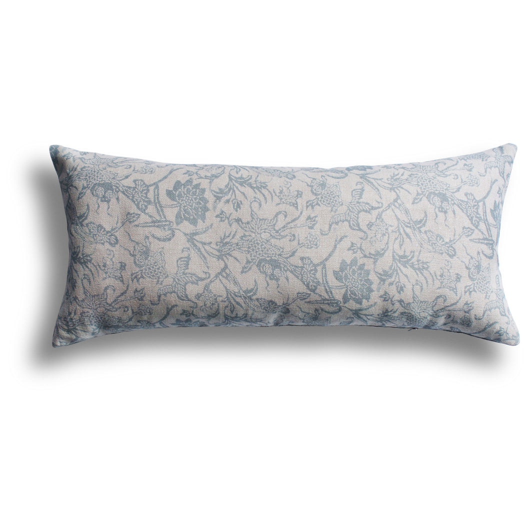 Prussian Carp Pillow in Spring, 15 x 34 in