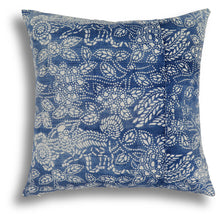 Load image into Gallery viewer, Vintage Indigo Phoenix Pillow, 18 x 18 in