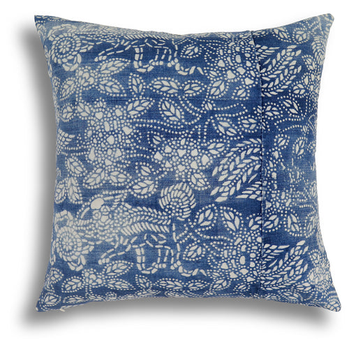 Vintage Indigo Phoenix Pillow, 18 x 18 in