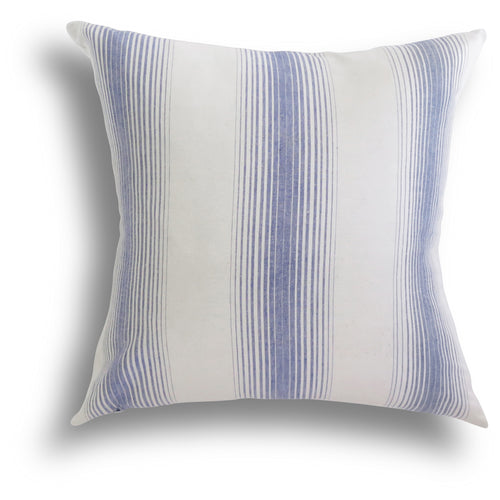 Homespun Stripe Pillow - Sea