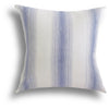 Homespun Stripe Pillow in Sea, 20 x 20 in
