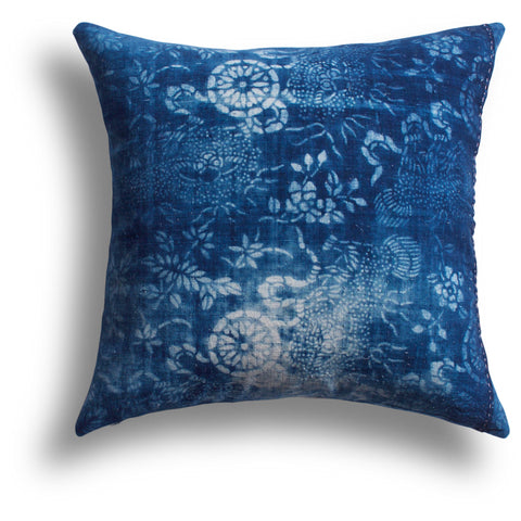 Vintage Indigo Loyalty Pillow, 18 x 18 in