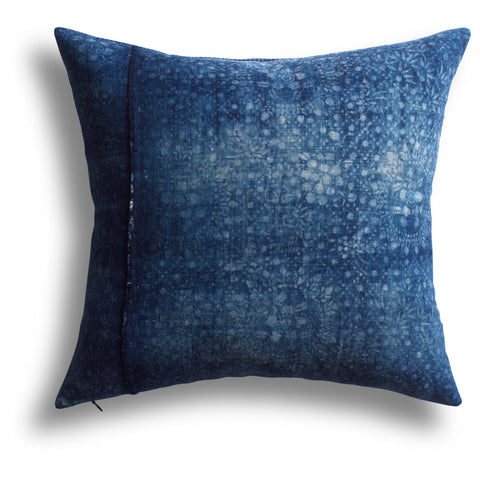 Vintage Indigo Integrity Pillow, 18 x 18 in