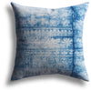 Vintage Indigo Waterfall Pillow, 18 x 18 in