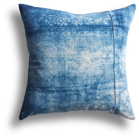 Vintage Indigo Shenyang Pillow, 18 x 18 in
