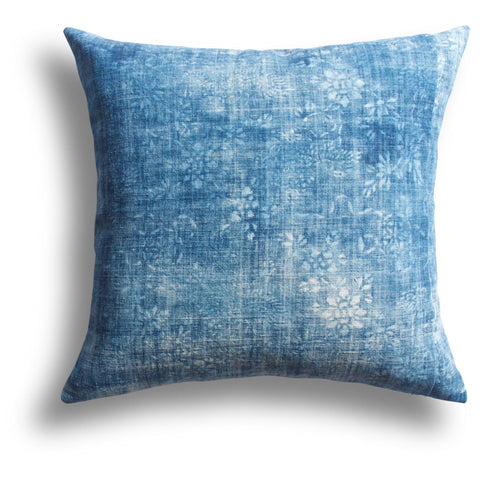 Vintage Indigo Shrine Pillow, 18 x 18 in