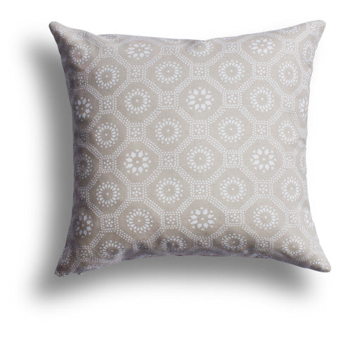 Honeycomb Pillow in Sesame, 22 x 22 in