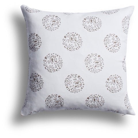 Dot Dot Dot Pillow in Shiitake, 22 x 22 in