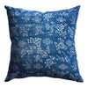 Vintage Indigo Grape Pillow, 18 x 18 in