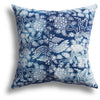 Vintage Indigo Dragon Tail Pillow, 18 x 18 in