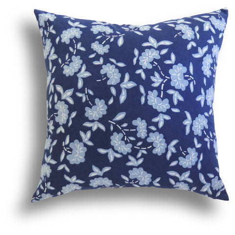 Limited Edition - Indigo Azalea Pillow, 20 x 20 in