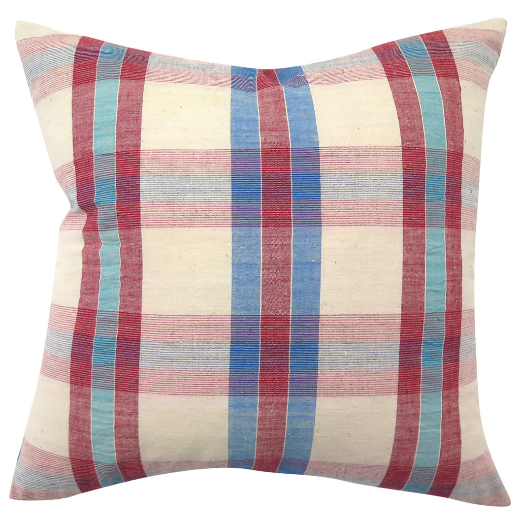 Vintage Homespun Hong Kong Pillow, 20 x 20 in