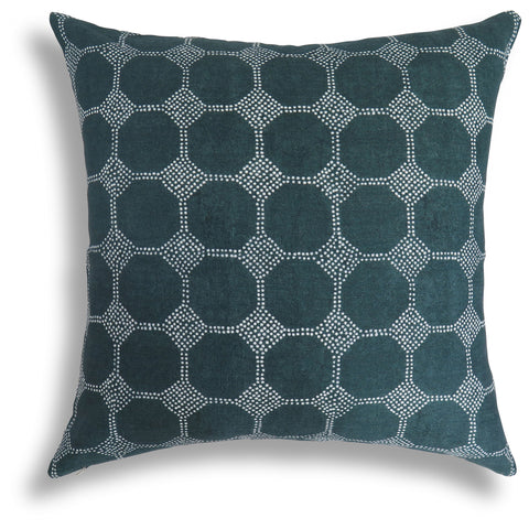 Courtyard Pillow in Midnight, 22 x 22 in