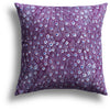 Peacock Pillow in Plum, 18 x 18 in