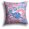 Summer Palace Pillow in Coral, 22 x 22 in