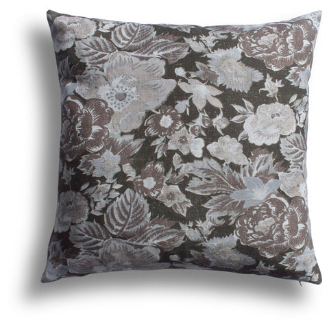 Summer Palace Pillow in Black Sesame, 22 x 22 in
