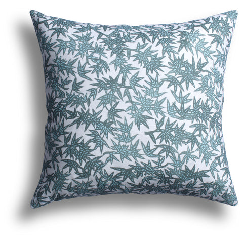 Bamboo Forest Pillow in Jungle, 22 x 22 in