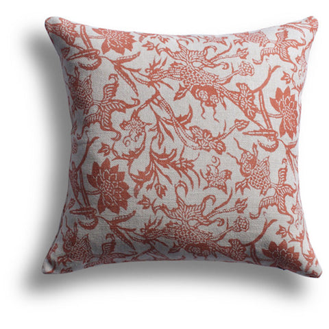 Prussian Carp Pillow in Paprika, 22 x 22 in