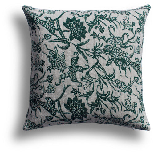 Prussian Carp Pillow - Emerald