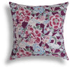 Mei Long Pillow in Mulberry, 22 x 22 in