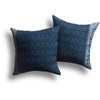 Rattan Pillow in Canal, 18 x 18 in