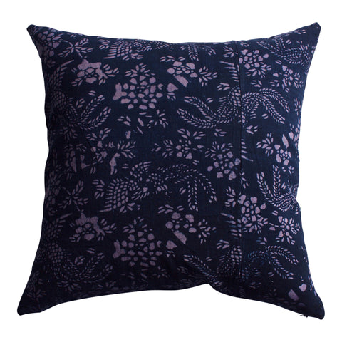 Vintage Indigo Jiangsu Pillow, 22 x 22 in