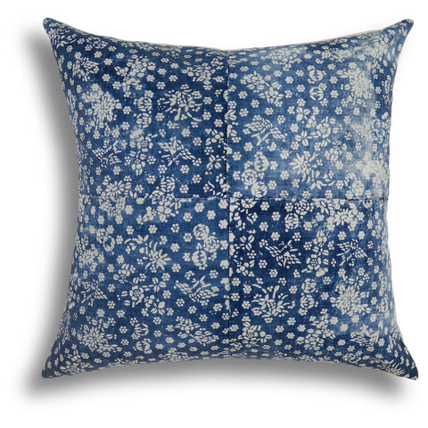 Vintage Indigo Qi Pillow, 26 x 26 in
