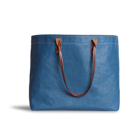Large Glossy Mercantile Tote in Canton Blue