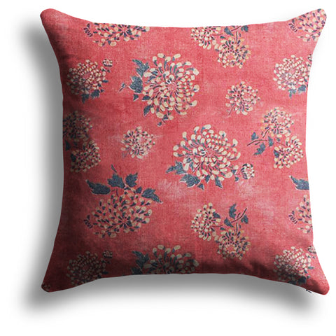 Double Ninth Pillow in Kumquat, 22 x 22 in
