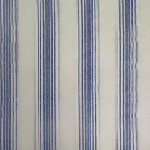 Homespun Stripe Fabric - Sea