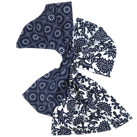 Indigo Flower + Honeycomb Tea Towel Set